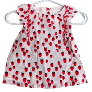 Cute strawberry print summer dress